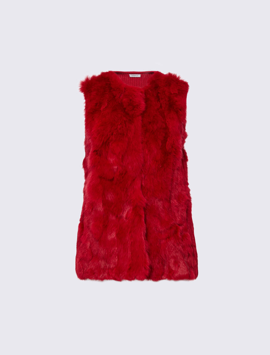 Rabbit fur gilet Marella