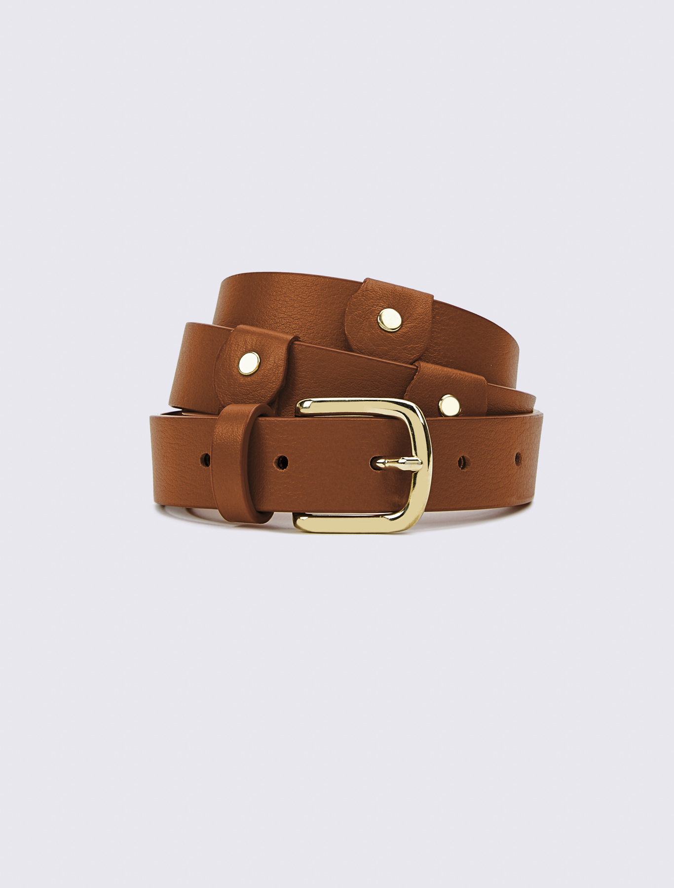 001eb4dde2d20 Leather belt, tobacco - Marella