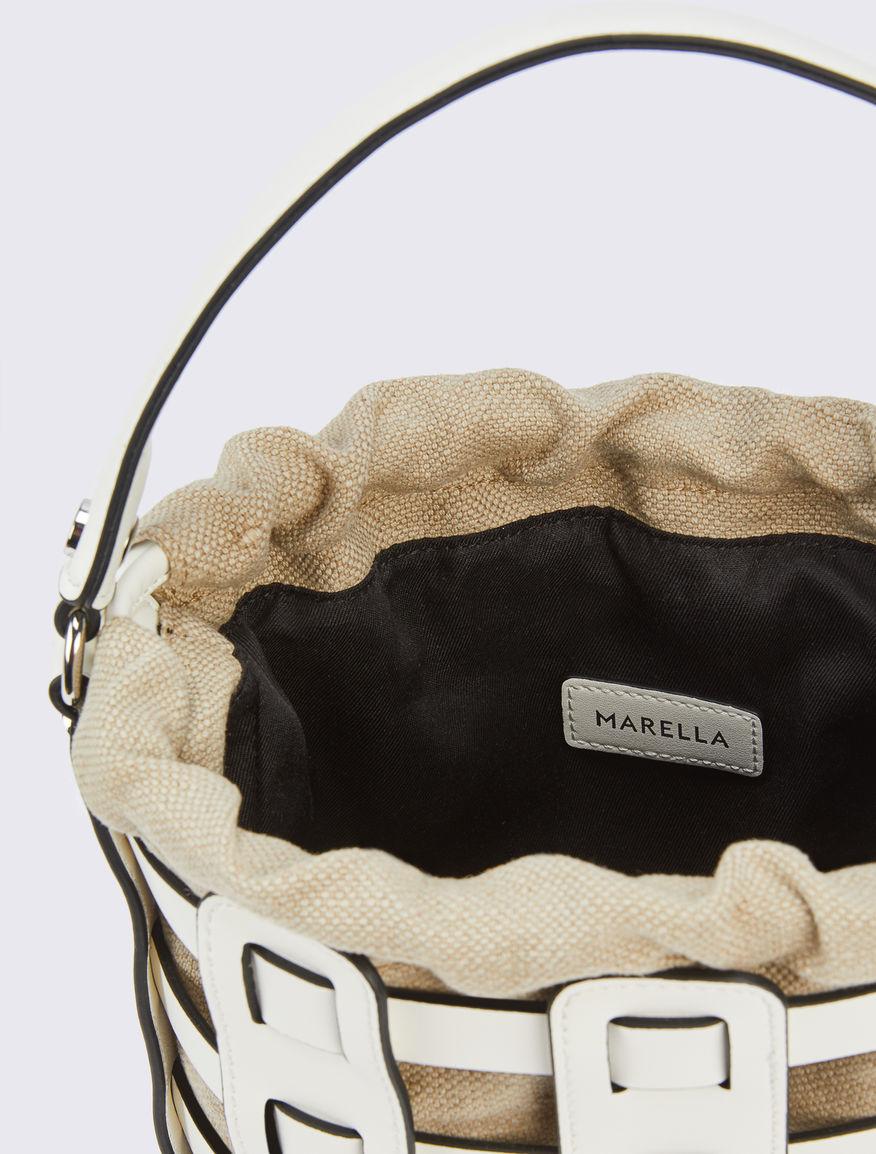 Bolso de cubo trenzado Marella