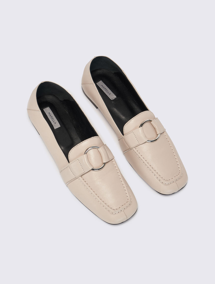 Leather loafers Marella