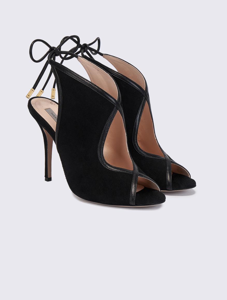 Suede sandals. Marella