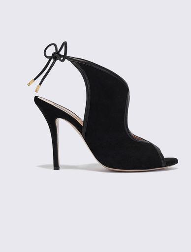 Sandales en cuir velours Marella