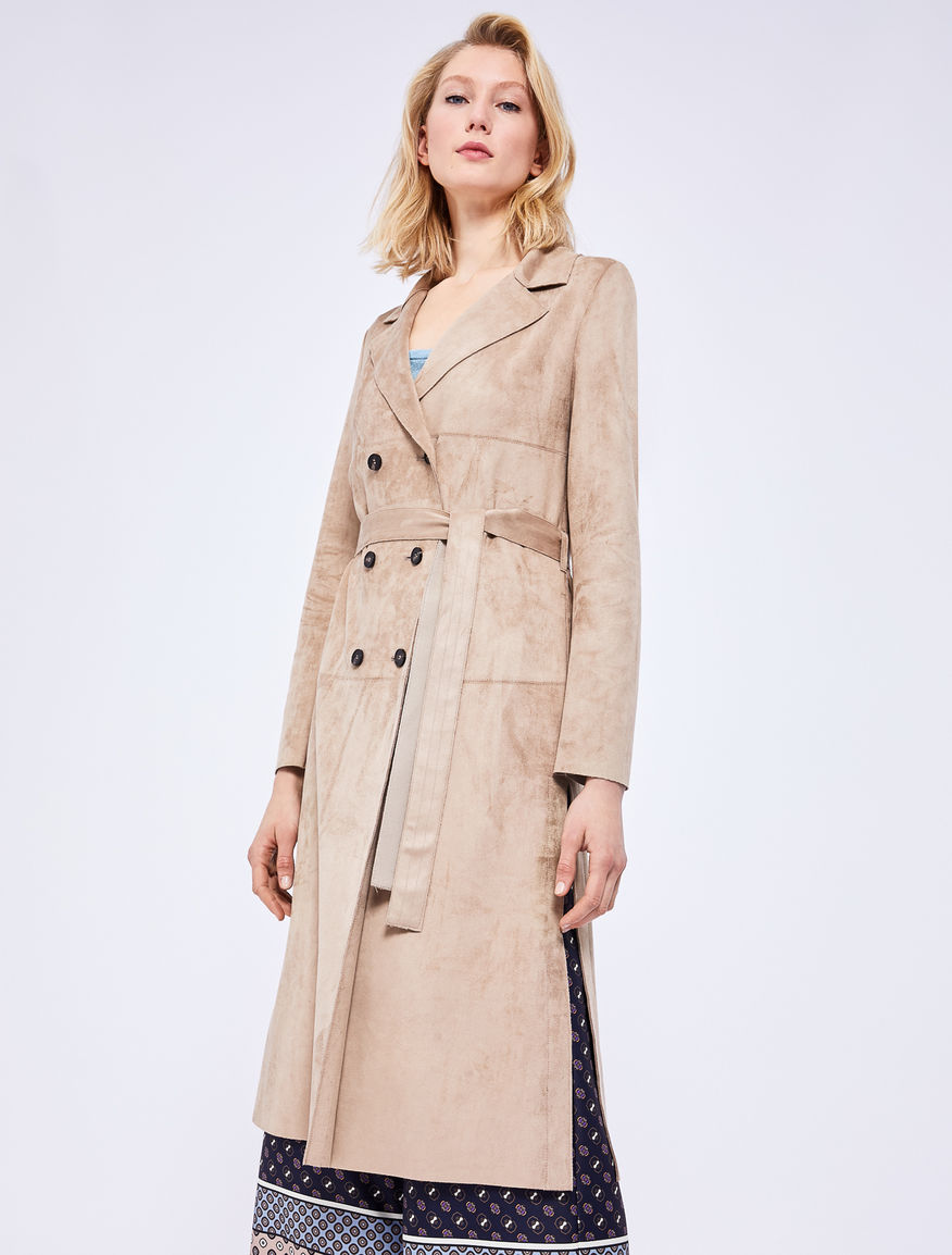 Suede-effect trench Marella