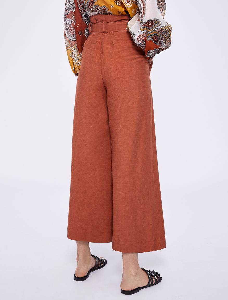 Gonna-pantalone in lino Marella