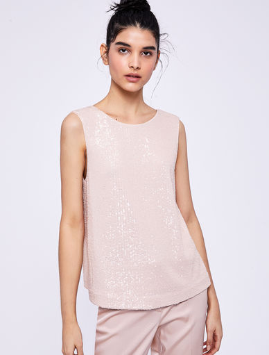 Top in paillettes Marella
