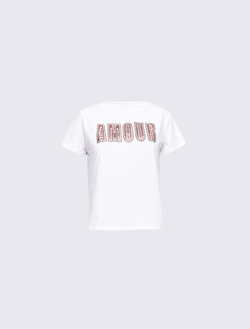 T-shirt with lettering Marella