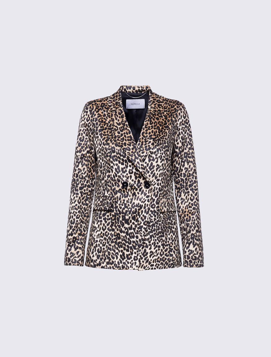 Animal print blazer Marella