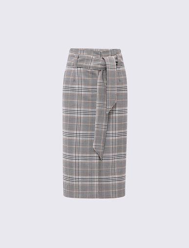 Prince of Wales checked skirt Marella