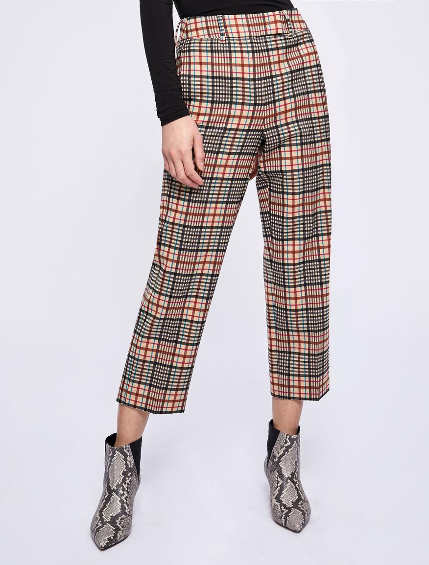 Checked trousers Marella