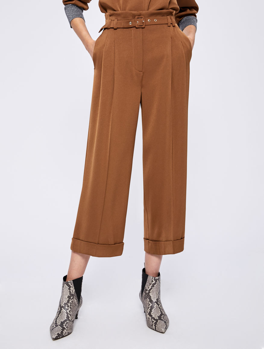 Pantaloni in satin Marella
