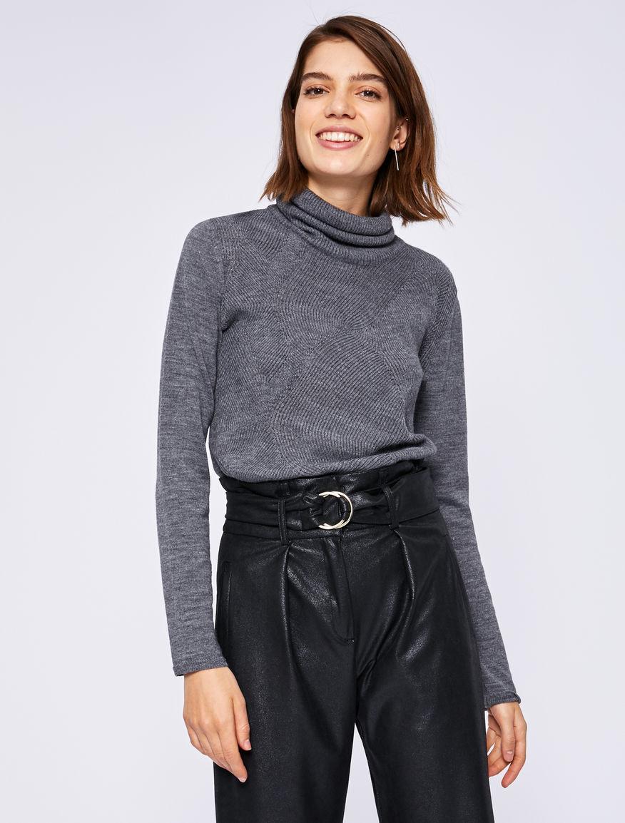 Wool polo neck jumper Marella
