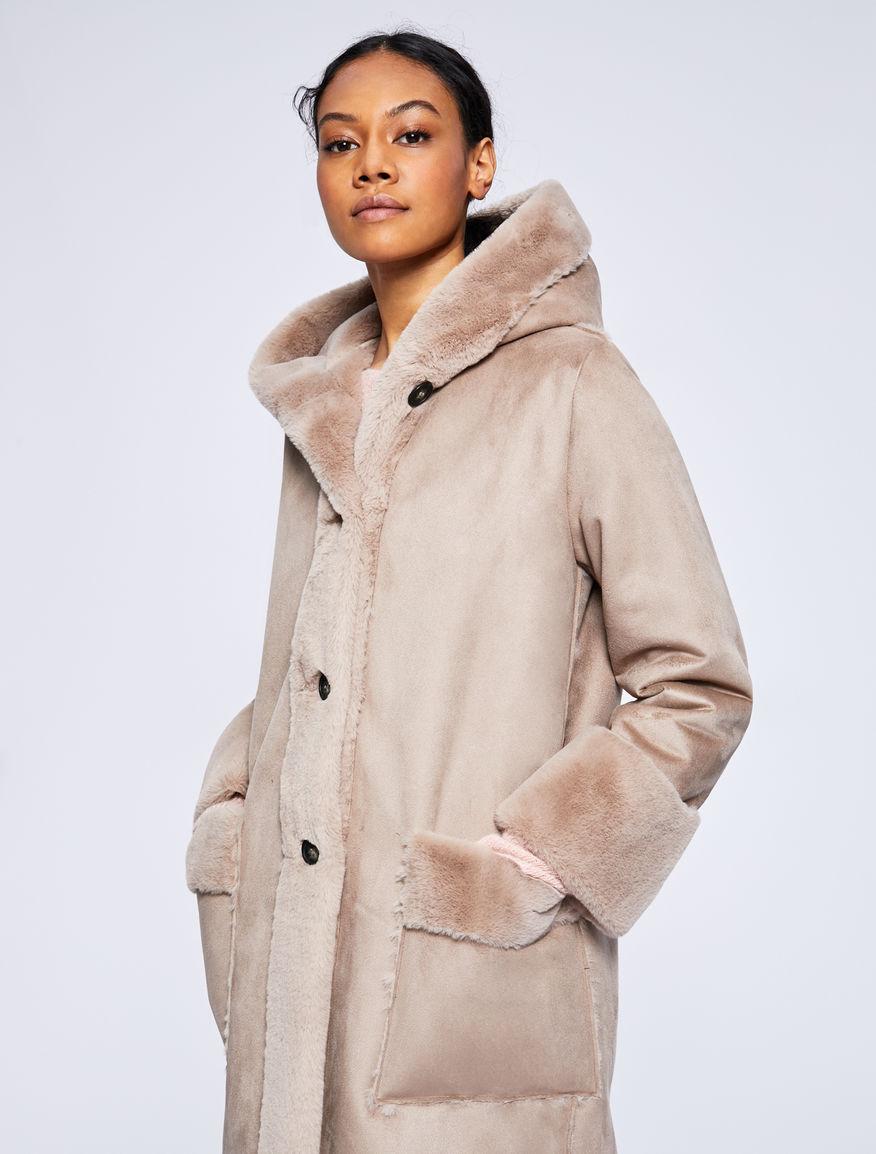 Abrigo con capucha Marella