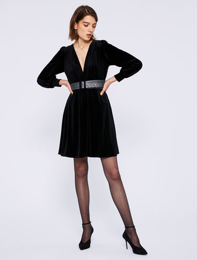 Vestido en terciopelo Marella