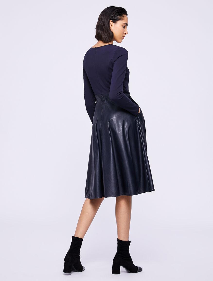 Two-material dress Marella