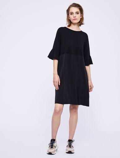 Two-material dress Marella