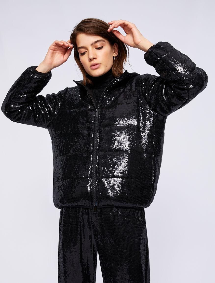 Sequinned puffer jacket Marella