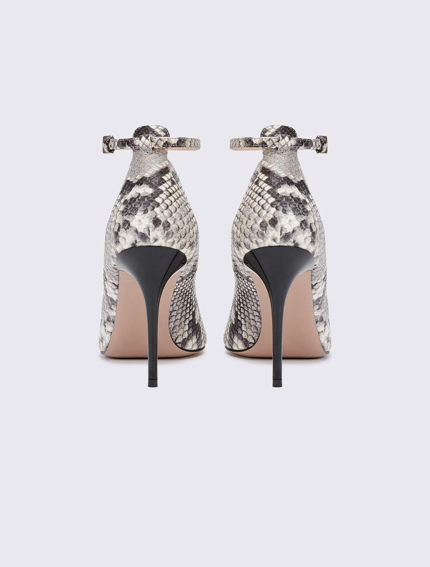 Python-print court shoe Marella