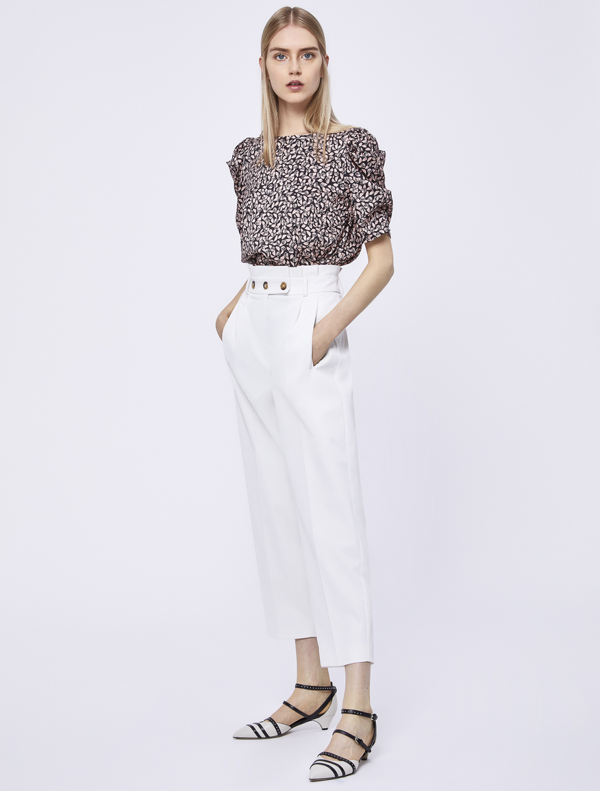 High-waisted trousers Marella