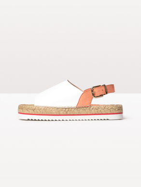 Sandali espadrilles di pelle