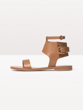 Sandali flat di pelle