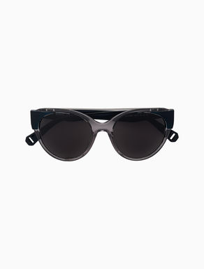 Pilotenbrille in Cat-Eye-Silhouette