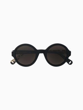 Tortoiseshell pattern round glasses