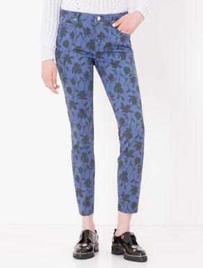 Pantaloni skinny fit stampati