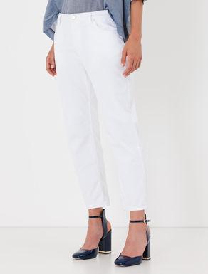 Pantaloni cropped straight fit di drill