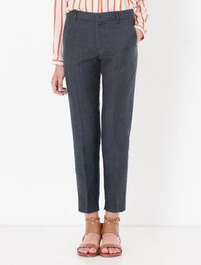 Pantaloni slim fit di canvas soft