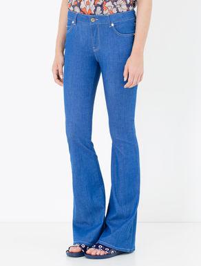 Jeans bootcut blu brillante