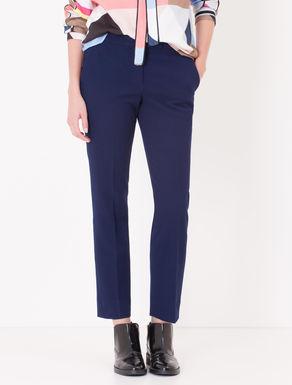 Pantaloni slim fit di tessuto piqué