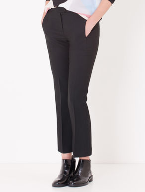 Pantaloni cropped kick-flare fit