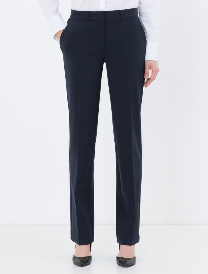 Straight-fit stretch trousers