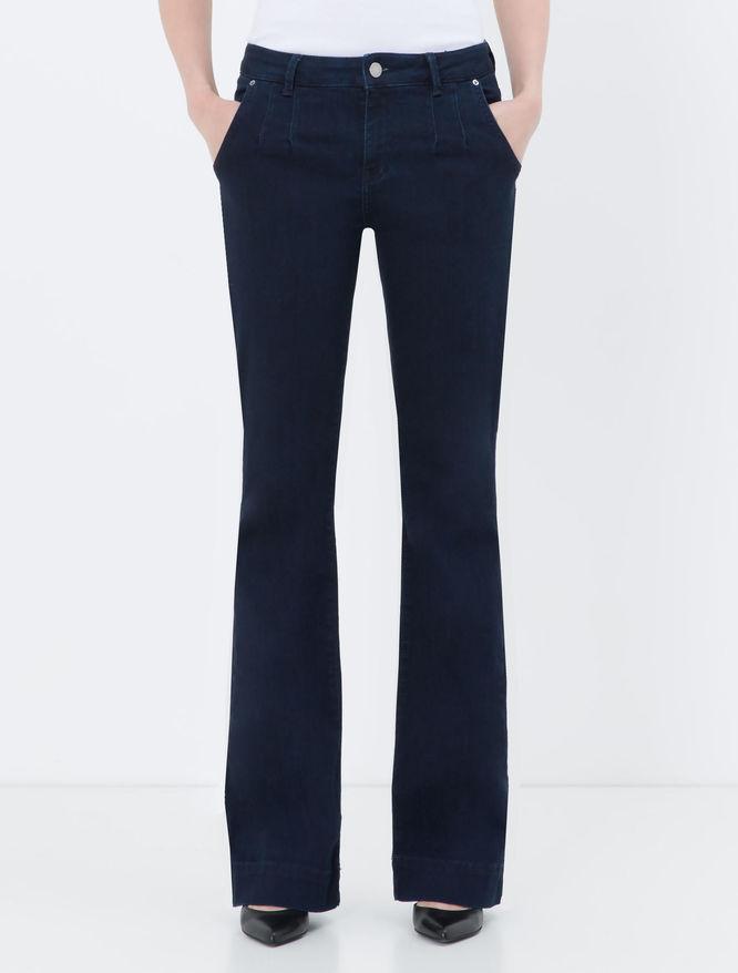 Blue boot-cut jeans