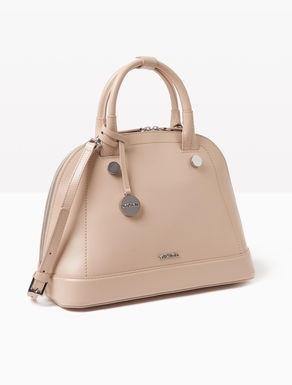 Leather rounded tote bag