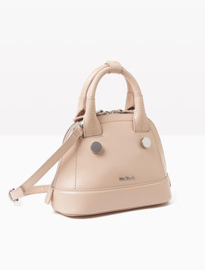 Leather rounded mini bag