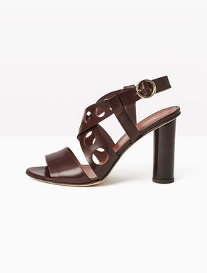 Cut-out sandals with chunky heel