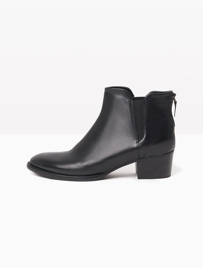 Leather Chelsea boots with zip
