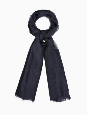 Silk and wool jacquard scarf