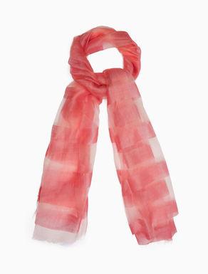 Silk and wool jacquard scarf