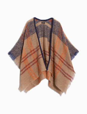 Check patterned poncho
