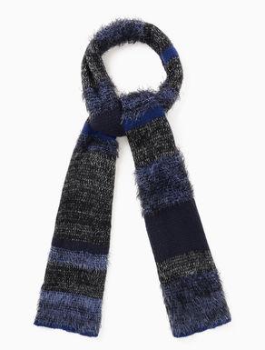 Sciarpa di maglia a mix di fili