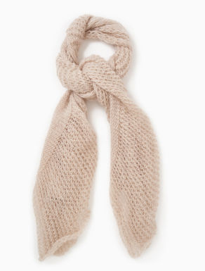 Mohair knit scarf