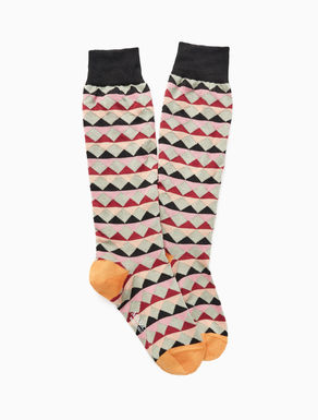 Patterned cotton socks