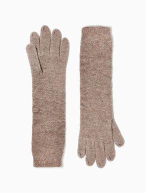 Long knit gloves