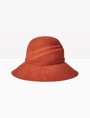 Chapeau cloche en feutre de laine