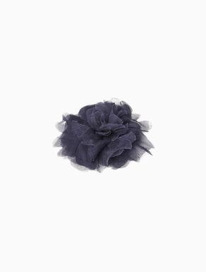 Silk flower brooch