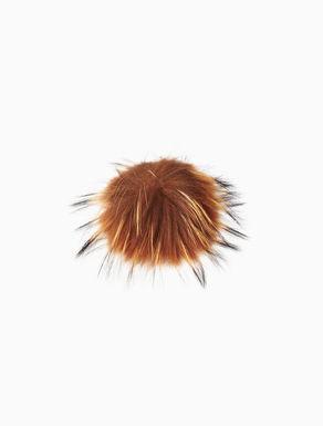 Fur pompom brooch