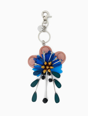 3D floral keyring charm