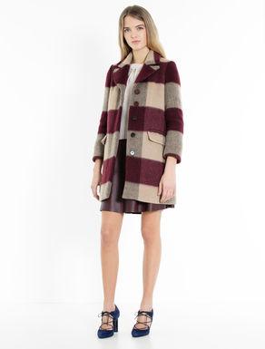 Macro-check coat